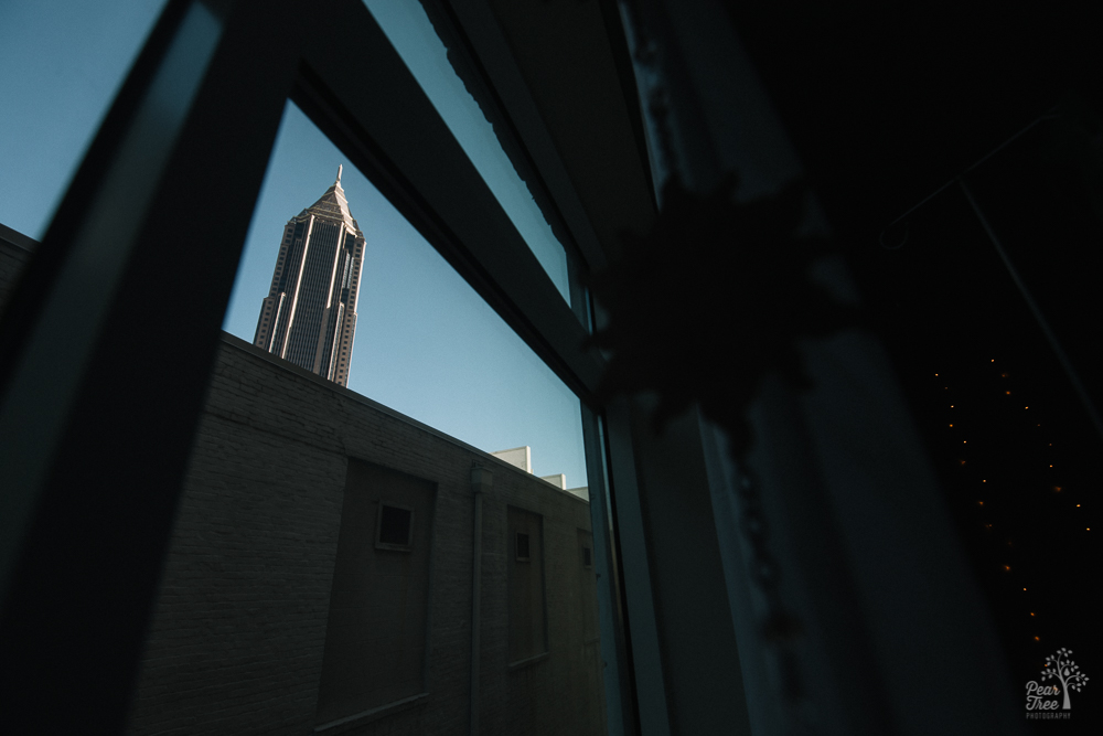 Bank of America building at dawn from Atlanta Birth Center window