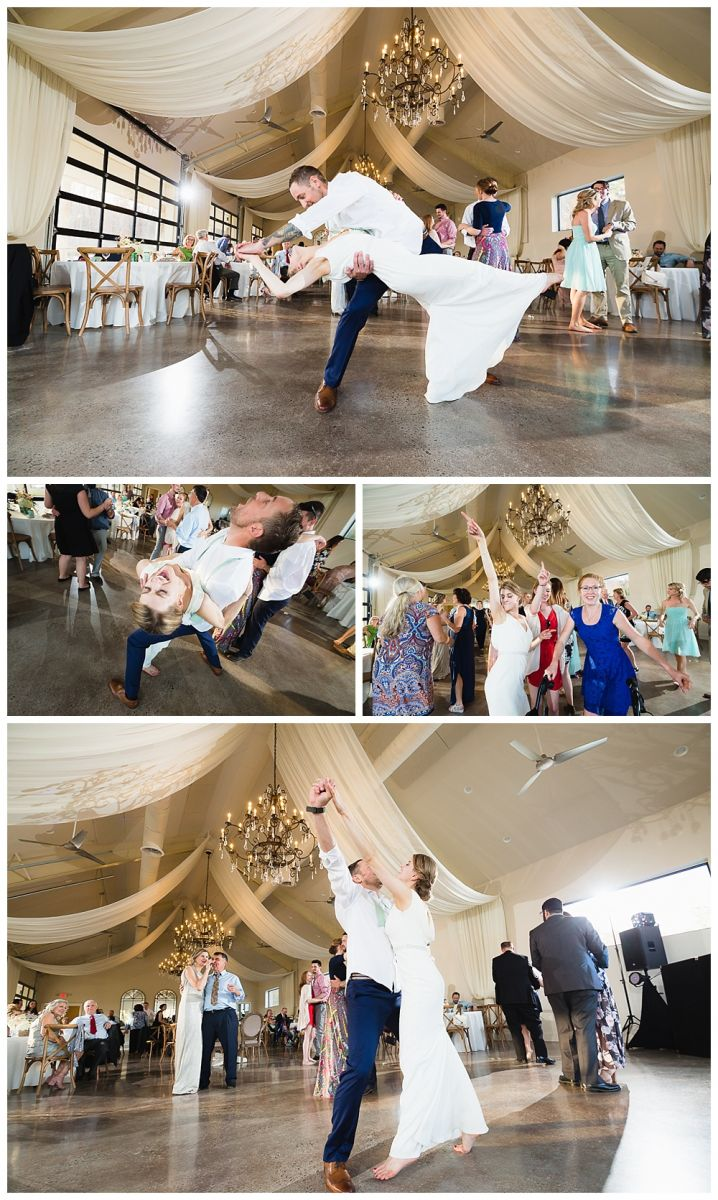 Bride and groom dancing together at Greystone Estate wedding