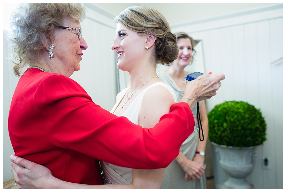 Bride with Grandma on her wedding day